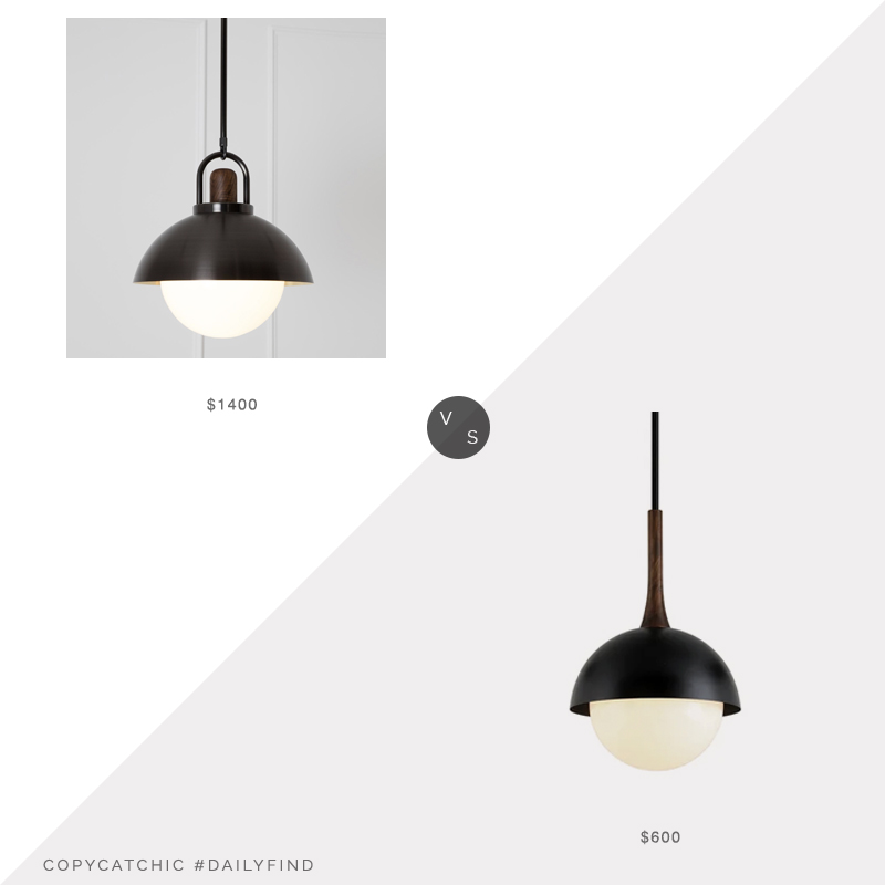 Daily Find: Allied Maker Arc Dome Pendant vs. Wayfair Ivy Bronx Aric Pendant, black pendant light look for less, copycatchic luxe living for less, budget home decor and design, daily finds, home trends, sales, budget travel and room redos
