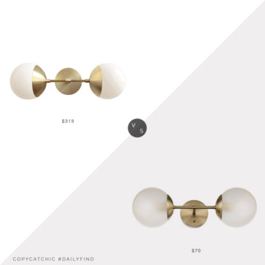 Daily Find: Cedar and Moss Theo Sconce vs. Home Depot Globe Electric Celestia Sconce, double globe sconce look for less, copycatchic luxe living for less, budget home decor and design, daily finds, home trends, sales, budget travel and room redos