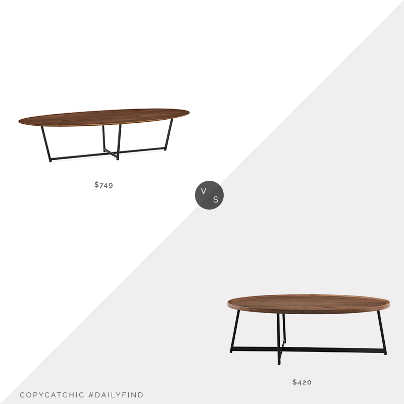Daily Find: Room & Board Soto Coffee Table vs. Wayfair Doyle Coffee Table, oval coffee table look for less, copycatchic luxe living for less, budget home decor and design, daily finds, home trends, sales, budget travel and room redos