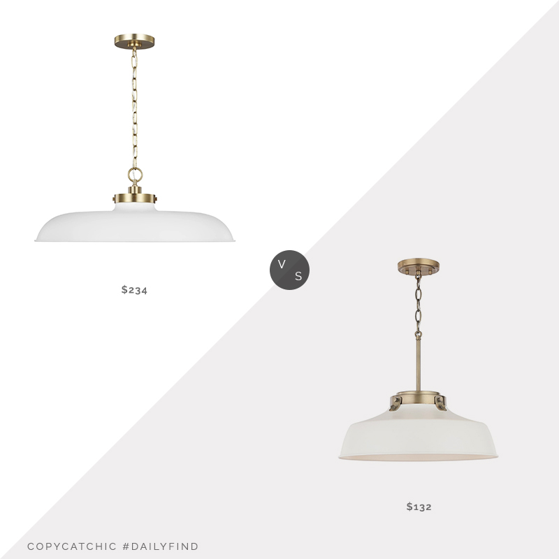 Daily Find: Lumens Wellfleet Pendant by Chapman & Myers vs. Overstock Carbon Loft Jennie Matte White Pendant, white pendant light look for less, copycatchic luxe living for less, budget home decor and design, daily finds, home trends, sales, budget travel and room redos