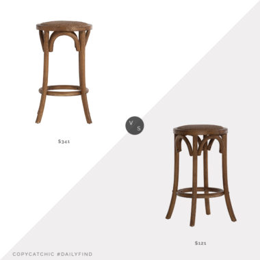 Daily Find: Macy's Linon Home Decor Pellington Backless Counter Stool vs. Walmart Linon Rae Backless Wood Counter Stool, wood counter stool look for less, copycatchic luxe living for less, budget home decor and design, daily finds, home trends, sales, budget travel and room redos