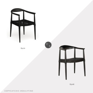 Daily Find: Wayfair AllModern Archer Solid Wood Dining Chair vs. Overstock Bandelier Black Rural Woven Dining Chair, black woven dining chair look for less, copycatchic luxe living for less, budget home decor and design, daily finds, home trends, sales, budget travel and room redos