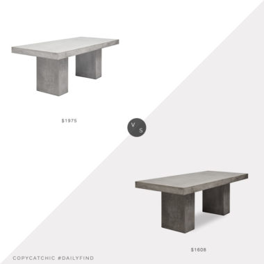 Daily Find: Kathy Kuo Grace Industrial Concrete Table vs. Boxhill Elcor Outdoor Dining Table, concrete dining table look for less, copycatchic luxe living for less, budget home decor and design, daily finds, home trends, sales, budget travel and room redos