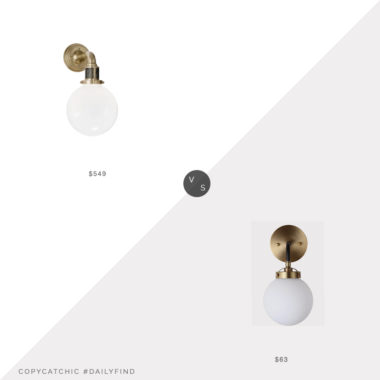 Daily Find: Circa Lighting Ralph Lauren McCarren Sconce vs. Lowe's Jonathan Y Sconce, globe sconce look for less, copycatchic luxe living for less, budget home decor and design, daily finds, home trends, sales, budget travel and room redos