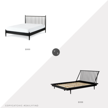 Daily Find: Article Lenia Black Ash Spindle Bed vs. Bed Bath & Beyond Forest Gate Mid-Century Spindle Bed, black spindle bed look for less, copycatchic luxe living for less, budget home decor and design, daily finds, home trends, sales, budget travel and room redos