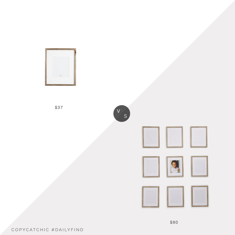 "Daily Find: Pottery Barn Wood Gallery Single Opening 8""x10"" Frame vs. TJ Maxx ENCHANTE Portrait 8""x10"" Frames (set of 9), wood picture frames look for less, copycatchic luxe living for less, budget home decor and design, daily finds, home trends, sales, budget travel and room redos"