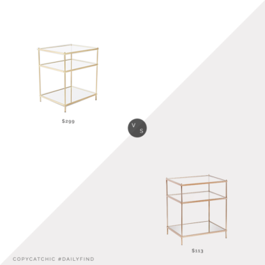 Daily Find: West Elm Terrace Nightstand vs. Amazon Southern Enterprises Knox Glam Mirrored Side Table, brass side table look for less, copycatchic luxe living for less, budget home decor and design, daily finds, home trends, sales, budget travel and room redos