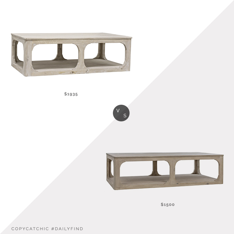 Daily Find: Burke Decor Reclaimed Lumber Gimso Coffee Table vs. Eye for Pretty Gimso Coffee Table, reclaimed wood coffee table look for less, copycatchic luxe living for less, budget home decor and design, daily finds, home trends, sales, budget travel and room redos