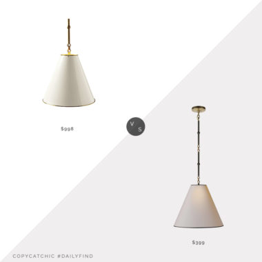 """Daily Find: Serena & Lily 15"""" Goodman Pendant vs. 1-800 Lighting Goodman 15"""" Pendant, white pendant light look for less, copycatchic luxe living for less, budget home decor and design, daily finds, home trends, sales, budget travel and room redos"""