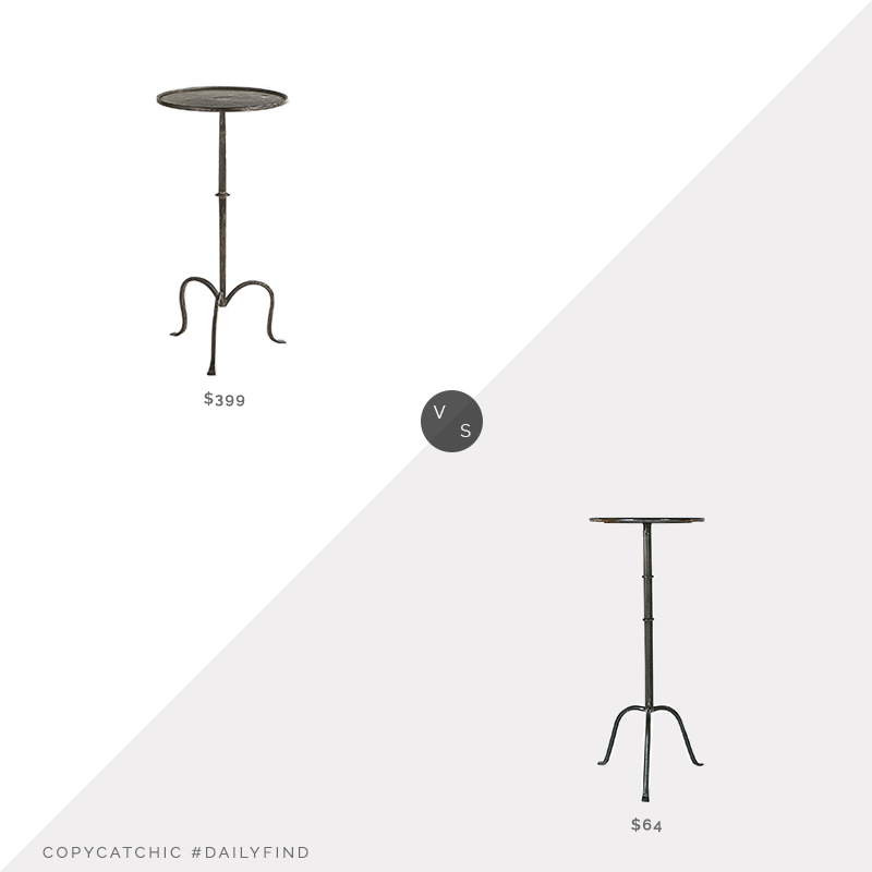 Daily Find: Burke Decor Visual Comfort Hand-Forged Martini Table vs. Zola Creative Co-Op Collected Notions Martini Table, martini table look for less, copycatchic luxe living for less, budget home decor and design, daily finds, home trends, sales, budget travel and room redos