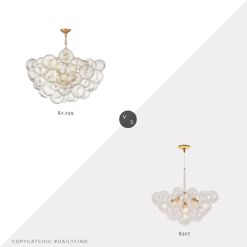Daily Find: 1-800 Lighting Julie Neill Talia Chandelier by Visual Comfort and Co. vs. Chandelierias Modern Glass Bubble Cluster Chandelier, bubble chandelier look for less, copycatchic luxe living for less, budget home decor and design, daily finds, home trends, sales, budget travel and room redos