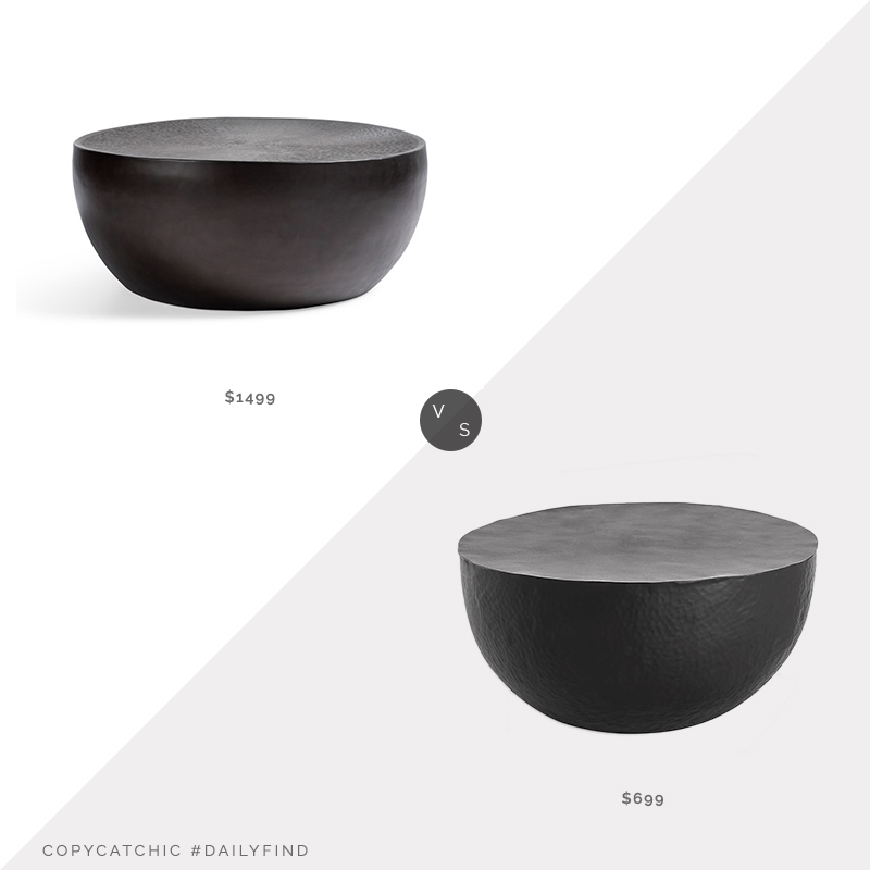 Daily Find: Arhaus Radial Drum Coffee Table vs. Crate & Barrel Fernando Metal Drum Coffee Table, drum coffee table look for less, copycatchic luxe living for less, budget home decor and design, daily finds, home trends, sales, budget travel and room redos