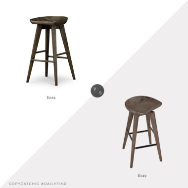 Daily Find:Burke Decor Paramore Swivel Counter Stool vs. Wayfair Millwood Pines Saunderstown Swivel Stool, tractor counter stool look for less, copycatchic luxe living for less, budget home decor and design, daily finds, home trends, sales, budget travel and room redos
