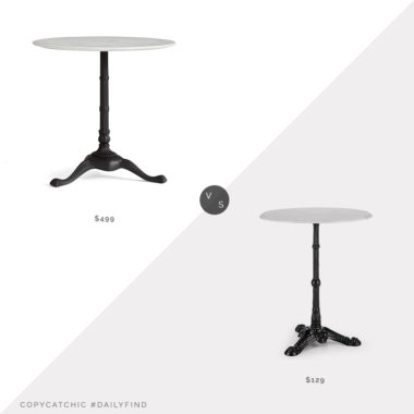 Daily Find: Pottery Barn Rae Marble Bistro Table vs. Amazon Blumfeldt Patras Marble Bistro Table, marble bistro table look for less, copycatchic luxe living for less, budget home decor and design, daily finds, home trends, sales, budget travel and room redos