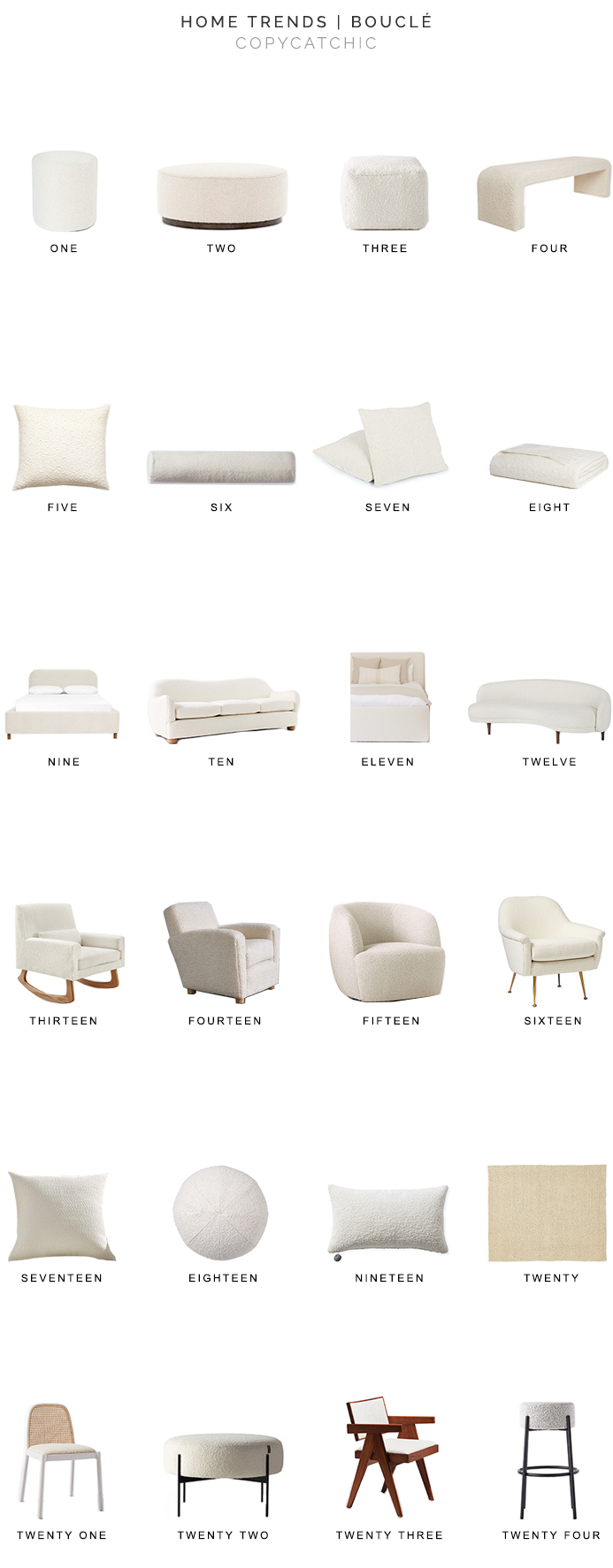 boucle furniture, boucle accessories, boucle decor, copycatchic luxe living for less, budget home decor and design, daily finds, home trends, sales, budget travel and room redos