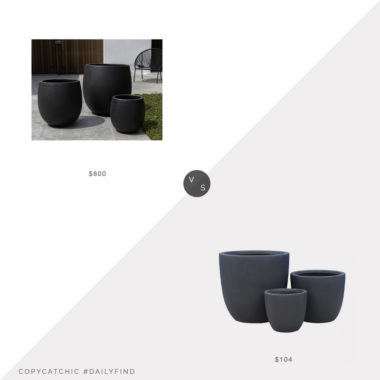 Daily Find: Perigold Campania Sandos Planter Set vs. Target Kante Modern Planter Set, black planters look for less, copycatchic luxe living for less, budget home decor and design, daily finds, home trends, sales, budget travel and room redos