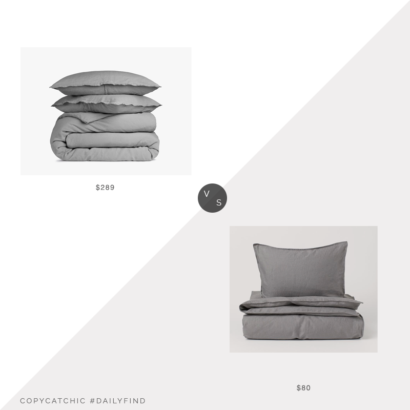 Daily Find: Parachute Home Linen Duvet Cover Setvs. H&M Home Washed Linen Duvet Cover Set, gray duvet set look for less, copycatchic luxe living for less, budget home decor and design, daily finds, home trends, sales, budget travel and room redos