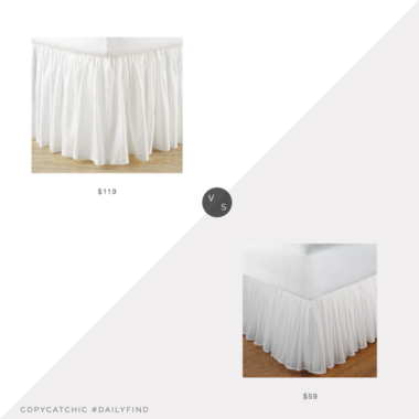 Daily Find: Pottery Barn Voile Bed Skirtvs. Target Greenland Home Fashion Cotton Voile Bed Skirt, white ruffled bed skirt look for less, copycatchic luxe living for less, budget home decor and design, daily finds, home trends, sales, budget travel and room redos