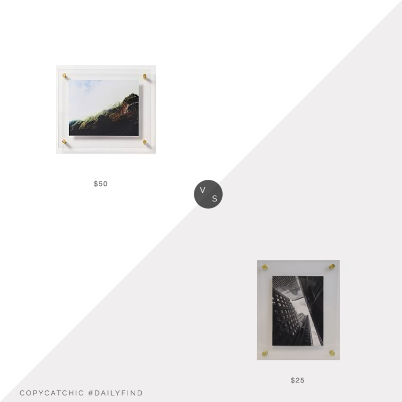 Daily Find: West Elm Modern Acrylic Frame (8x10)vs. Target Project 62™ Acrylic Frame (8x10), acrylic photo frame look for less, copycatchic luxe living for less, budget home decor and design, daily finds, home trends, sales, budget travel and room redos