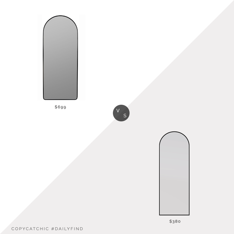 Daily Find: Pottery Barn Effie Floor Mirror vs. Wayfair Modern & Contemporary Full Length Mirror, arched floor mirror look for less, copycatchic luxe living for less, budget home decor and design, daily finds, home trends, sales, budget travel and room redos