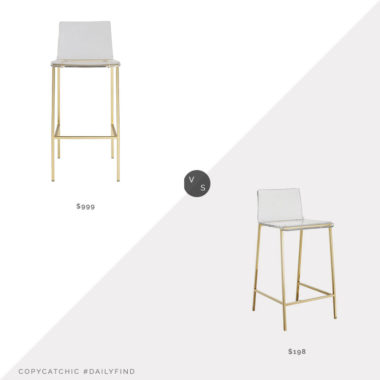 Daily Find: Pottery Barn Paige Bar Stool, Set of 2 vs. Wayfair Everly Quinn Mason Counter Stool, clear counter stool look for less, copycatchic luxe living for less, budget home decor and design, daily finds, home trends, sales, budget travel and room redos