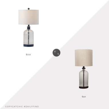 Daily Find: Wayfair Andover Mills Renata Table Lamp vs. Ashley Furniture Bandile Table Lamp, glass table lamp look for less, copycatchic luxe living for less, budget home decor and design, daily finds, home trends, sales, budget travel and room redos