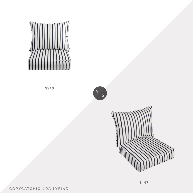 Daily Find: Birch Lane Millie Sunbrella Cushion Set vs. Overstock Mabley Sunbrella Cushion Set, outdoor cushions look for less, copycatchic luxe living for less, budget home decor and design, daily finds, home trends, sales, budget travel and room redos