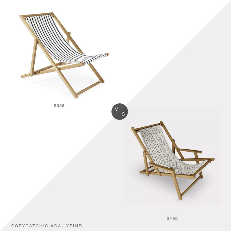 Daily Find: Serena and Lily Teak Sling Chair vs. Target June Journal Sling Chair, sling chair look for less, copycatchic luxe living for less, budget home decor and design, daily finds, home trends, sales, budget travel and room redos