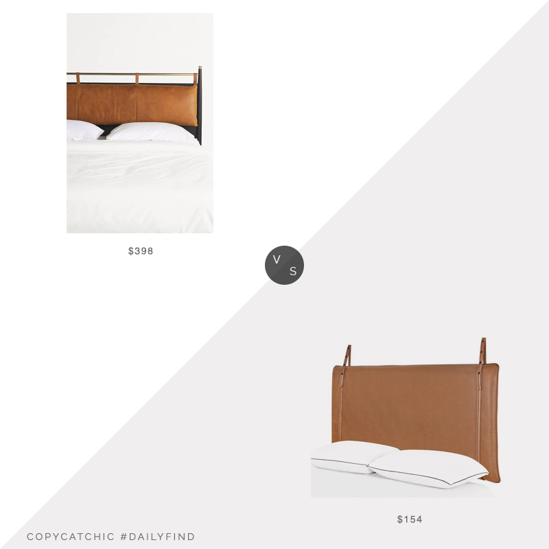 Daily Find: Anthropologie Hemming Leather Headboard Cushion vs. Wayfair Foundstone Eddie Upholstered Panel Headboard, leather headboard look for less, copycatchic luxe living for less, budget home decor and design, daily finds, home trends, sales, budget travel and room redos