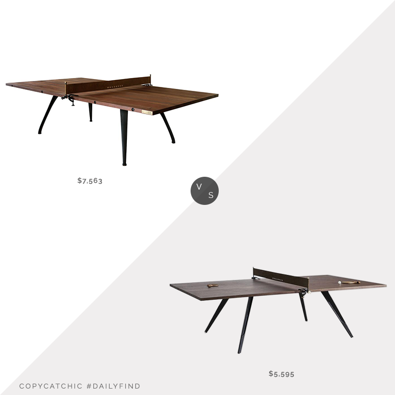 Daily Find: Kathy Kuo Home Palazzo Industrial Loft Wood Metal Ping Pong Table vs. Modern Digs District Eight Ping Pong Table, wood ping pong table look for less, copycatchic luxe living for less, budget home decor and design, daily finds, home trends, sales, budget travel and room redos