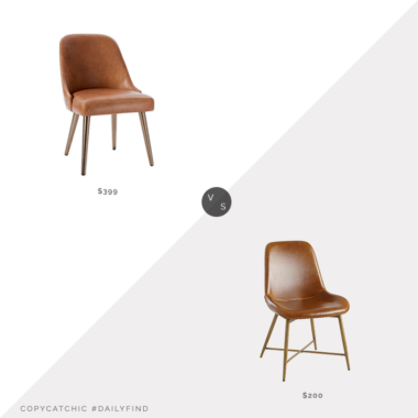 Daily Find: West Elm Mid-Century Dining Chair vs. World Market Bi Cast Leather Molded Tyler Dining Chair (set of 2), leather dining chair look for less, copycatchic luxe living for less, budget home decor and design, daily finds, home trends, sales, budget travel and room redos