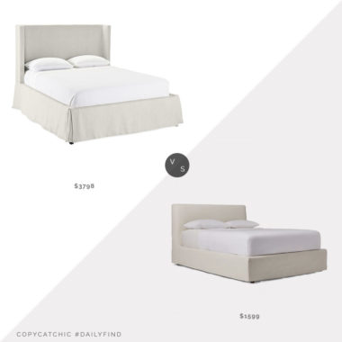 Daily Find: Serena and Lily Tall Broderick Slipcovered Bed vs. West Elm Haven Slipcover Bed, slipcovered bed look for less, copycatchic luxe living for less, budget home decor and design, daily finds, home trends, sales, budget travel and room redos