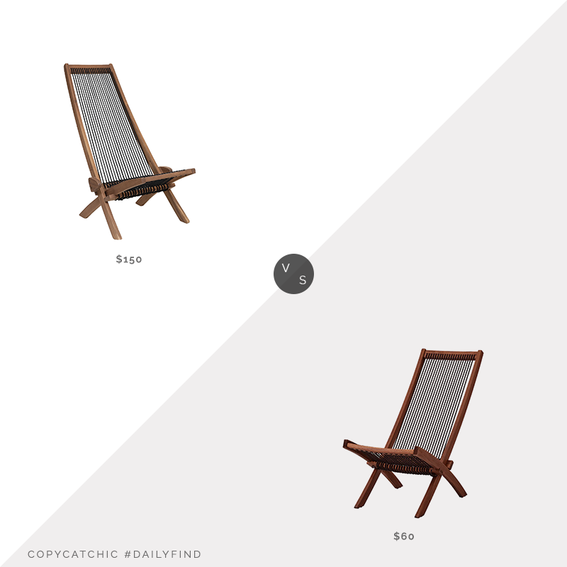 Daily Find: Clevermade Tamarack Rope Chair vs. IKEA Brommö Outdoor Chaise, outdoor rope chair look for less, copycatchic luxe living for less, budget home decor and design, daily finds, home trends, sales, budget travel and room redos