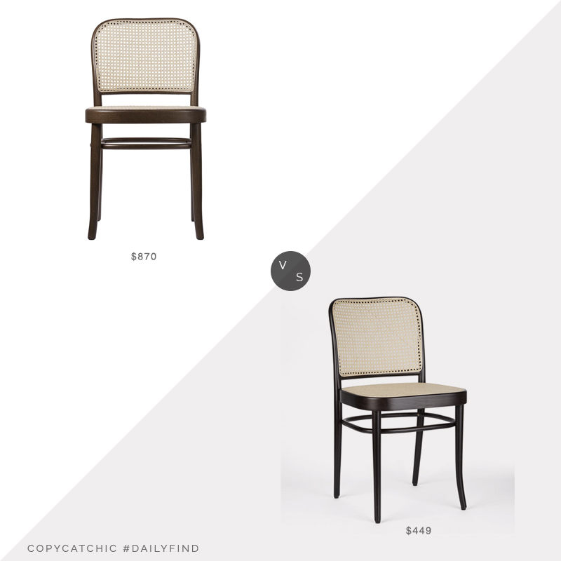 Daily Find: Artemest No. 811 Brown Chair vs. Rejuvenation Ton 811 Brown Chair, cane dining chair look for less, copycatchic luxe living for less, budget home decor and design, daily finds, home trends, sales, budget travel and room redos
