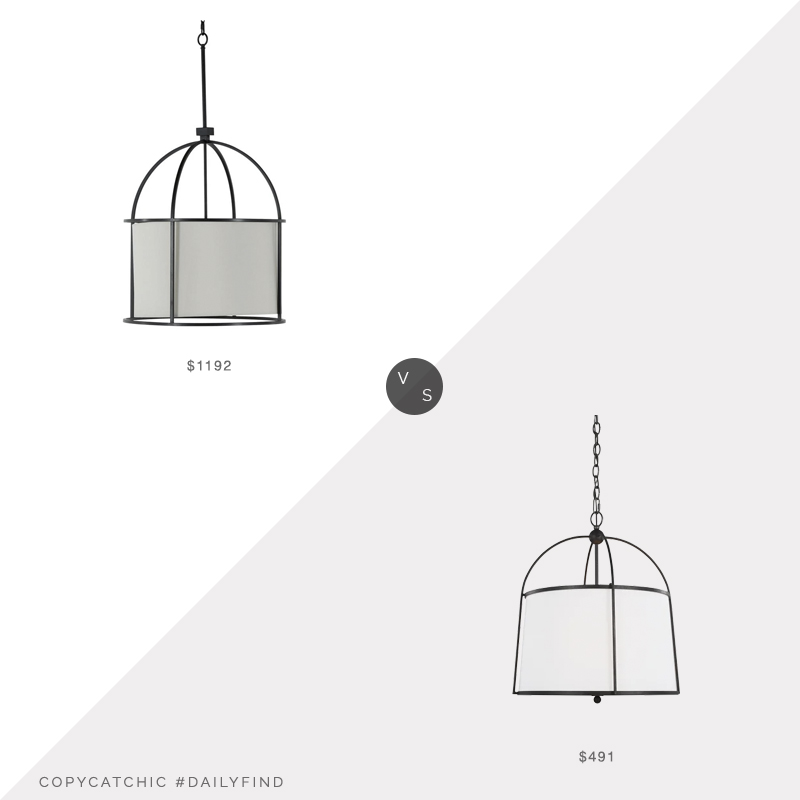Daily Find: Meadow Blu Gabby Marlon Outdoor Chandelier vs. Circa Lighting Stonington Medium Hanging Shade, circa chandelier look for less, copycatchic luxe living for less, budget home decor and design, daily finds, home trends, sales, budget travel and room redos