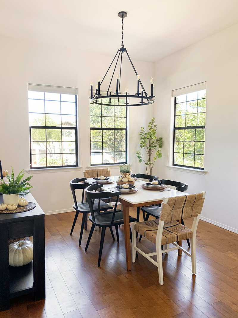 I partnered with Walmart and outfitted the whole dining room in about two weeks for less than $2,000. Walmart has so many great home furnishings and decor items which helped make my job even easier! #walmart #ad #diningroominspo