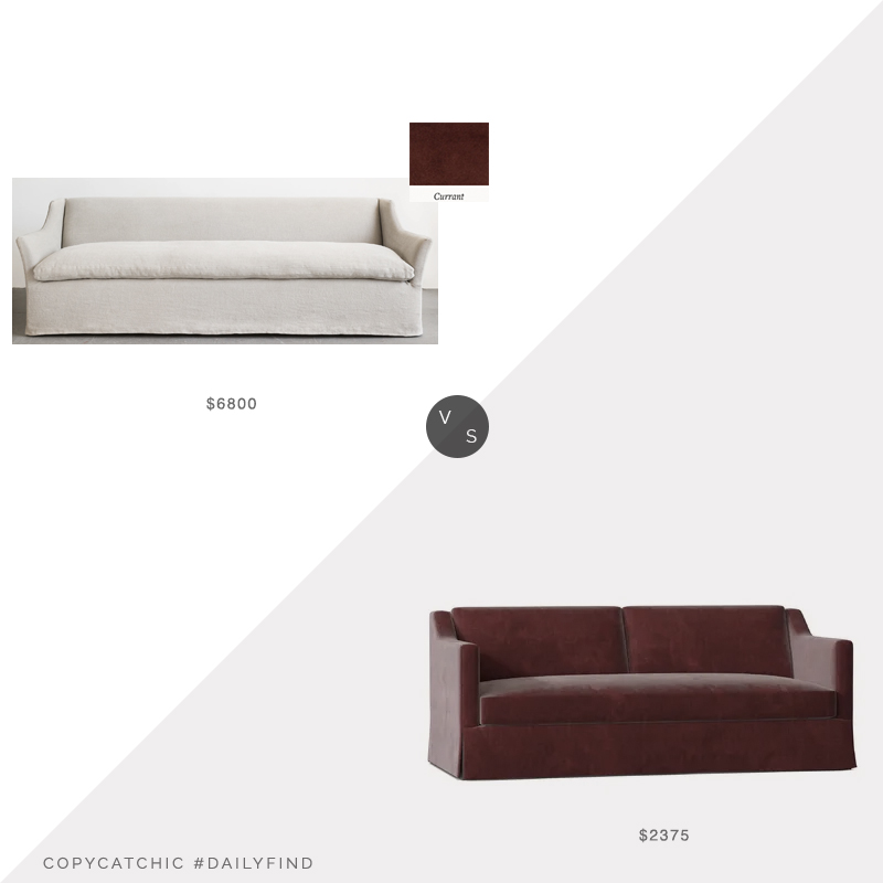 Daily Find: Shoppe Amber Interiors Georgina Sofa vs. Wayfair Laine Flared Arm Sofa, amber interiors sofa look for less, copycatchic luxe living for less, budget home decor and design, daily finds, home trends, sales, budget travel and room redos