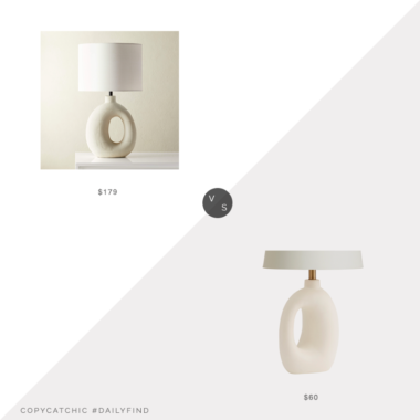 Daily Find: CB2 Algarve Ceramic Table Lamp vs. World Market White Abstract Ceramic Lyra Table Lamp Base (shade not included), sculptural table lamp look for less, copycatchic luxe living for less, budget home decor and design, daily finds, home trends, sales, budget travel and room redos