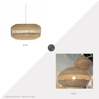 Daily Find: Hayneedle Kouboo Pendant Light vs. Etsy Large Rattan Pendant Lamp, rattan pendant light look for less, copycatchic luxe living for less, budget home decor and design, daily finds, home trends, sales, budget travel and room redos