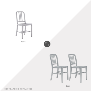 Daily Find: DWR 1006 Navy Side Chair vs. Laura Davidson Direct Bryant Side Chairs (Set of 2), aluminum dining chair look for less, copycatchic luxe living for less, budget home decor and design, daily finds, home trends, sales, budget travel and room redos