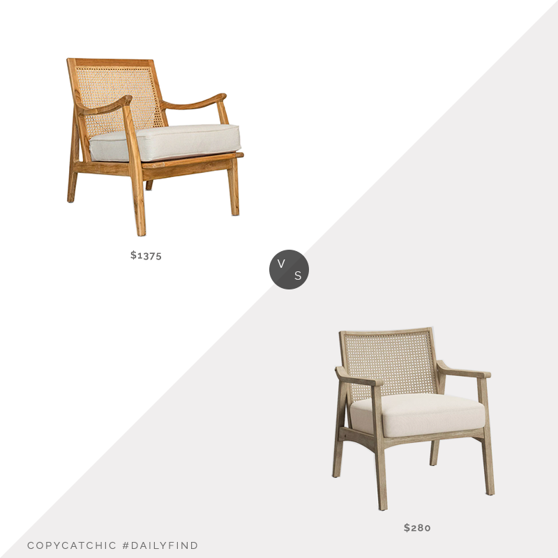 Daily Find: Lindye Galloway Cape Lounge Chair vs. Target Chelmsford Cane Lounge Chair, cane lounge chair look for less, copycatchic luxe living for less, budget home decor and design, daily finds, home trends, sales, budget travel and room redos
