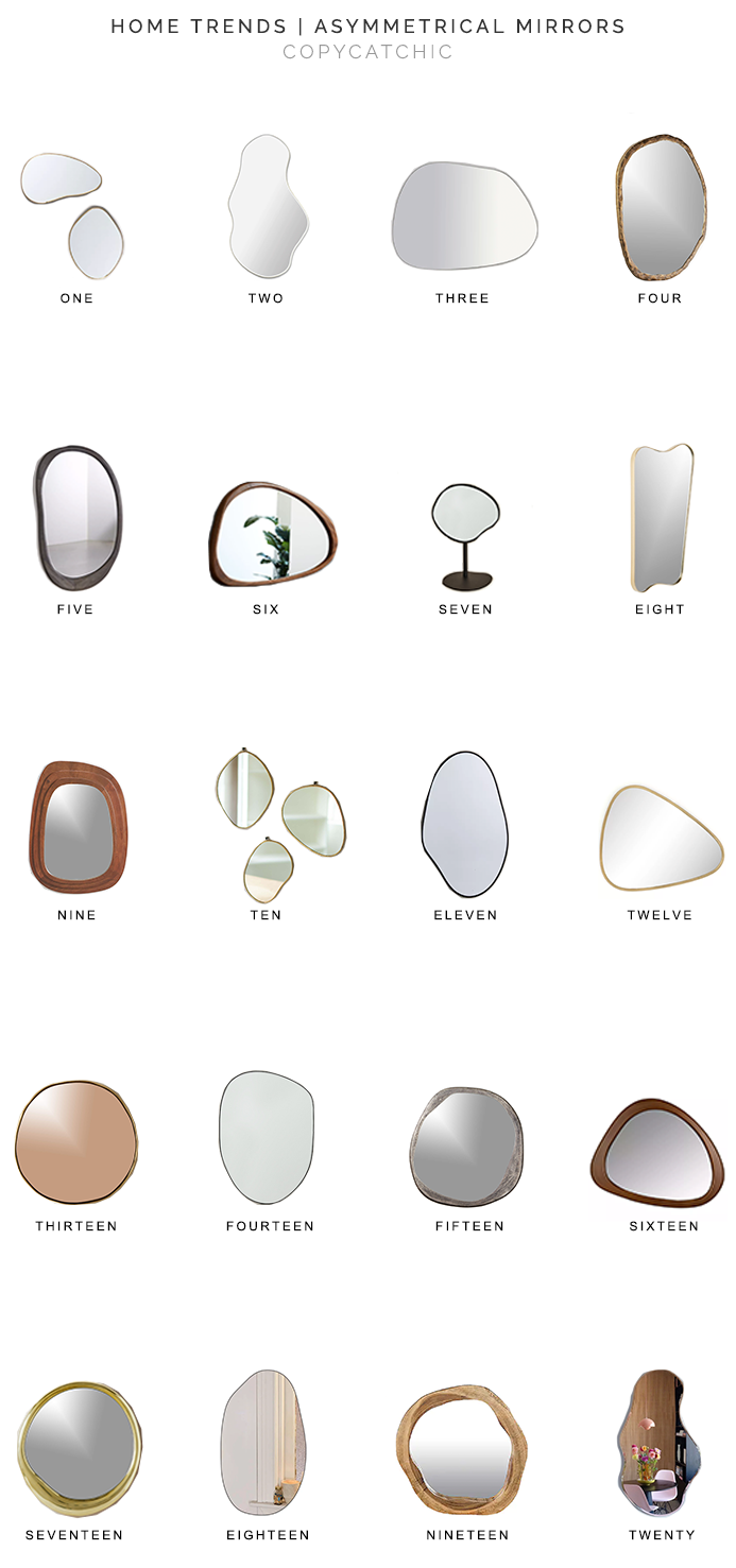 asymmetrical mirrors for less, asymmetrical mirror, copycatchic luxe living for less, budget home decor and design, daily finds, home trends, sales, budget travel and room redos