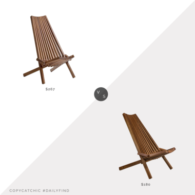 Daily Find: Lowes CASAINC Outdoor Folding Chair vs. Clevermade Tamarack Folding Chair, wood outdoor chair look for less, copycatchic luxe living for less, budget home decor and design, daily finds, home trends, sales, budget travel and room redos