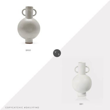 Daily Find: Lawson Fenning Chimera Amphora Vase vs. Wayfair Laine Flared Arm Sofa, white vase look for less, copycatchic luxe living for less, budget home decor and design, daily finds, home trends, sales, budget travel and room redos