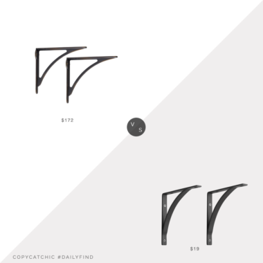 Daily Find: Rejuvenation Small Arched Shelf Brackets vs. World Market Black Metal Mix & Match Shelf Brackets 2 Pack, shelf brackets look for less, copycatchic luxe living for less, budget home decor and design, daily finds, home trends, sales, budget travel and room redos