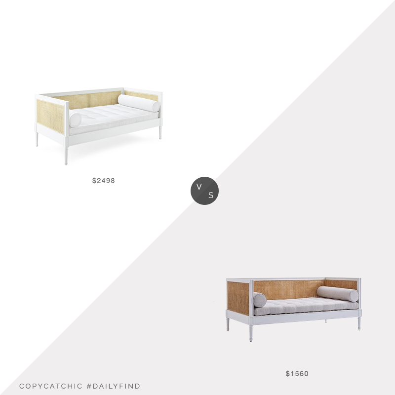 Daily Find: Serena and Lily Harbour Cane Daybed vs. Valyōu Furniture Harbor Cane Sofa, cane daybed look for less, copycatchic luxe living for less, budget home decor and design, daily finds, home trends, sales, budget travel and room redos