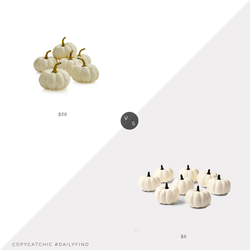 Daily Find: Crate & Barrel White Pumpkin Bowl & Vase Filler vs. Target Hyde & EEK! Boutique™ 8ct Painted Pumpkins White Halloween Decorative Sculpture Set, white decorative pumpkins look for less, copycatchic luxe living for less, budget home decor and design, daily finds, home trends, sales, budget travel and room redos