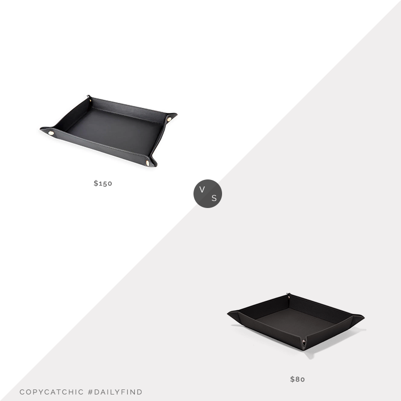 Daily Find: Horchow Royce NY Catch-All Valet Tray vs. Leatherology Rectangle Valet Tray, leather tray look for less, copycatchic luxe living for less, budget home decor and design, daily finds, home trends, sales, budget travel and room redos