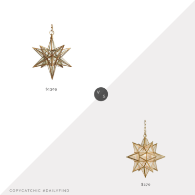 Daily Find: One Kings Lane Visual Comfort Moravian Star Pendant vs. Wayfair Canon Statement Star Pendant, moravian star light look for less, copycatchic luxe living for less, budget home decor and design, daily finds, home trends, sales, budget travel and room redos
