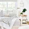 Copy Cat Chic Room Redo | Cozy White Lounge Area